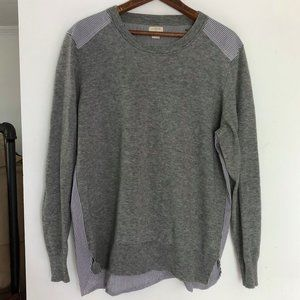 J Crew Mixed Media Merino Sweater Size XL